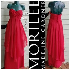 Mori Lee by Madeline Gardner Red Prom Ball Gown 12